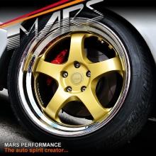 MARS MP-S1 4x 18 Inch Gold Face with deep Chrome dish Alloy Wheels Rims 5x120