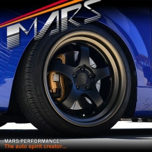 MARS MP-S1 4x 18 Inch Matt black Face with deep Matt bronze dish Alloy Wheels Rims 5x108