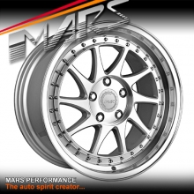 MARS MP-S2 Machined Silver Twist Spork with Dish 18 inch JDM Stag Alloy Wheels Rims 5 x 114.3