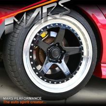 MP-SP 18 Inch Super Concave Gloss Black Face with Deep Dish Stag Alloy Wheels Rims 5 x 114.3