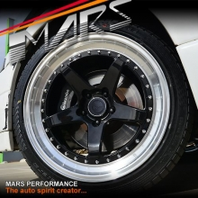 MP-SP 18 Inch Super Concave Gloss Black Face with Deep Dish Stag Alloy Wheels Rims 5 x 120