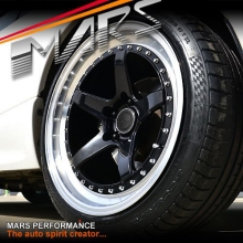 MP-SP 18 Inch Super Concave Gloss Black Face with Deep Dish Stag Alloy Wheels Rims 5 x 100