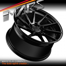 MARS MP-T2 Gloss Black 4x 20 Inch Twist Concave Stag Alloy Wheels Rims 5x114.3