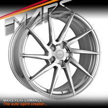 MARS MP-T2 Silver 4x 20 Inch Twist Concave Stag Alloy Wheels Rims 5x120
