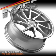 MARS MP-T2 Silver 4x 20 Inch Deep Concave Stag Alloy Wheels Rims 5x112