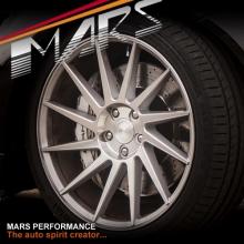MARS MP-TW Silver 4x 19 Inch Deep Twist Concave Stag Alloy Wheels Rims 5x114.3