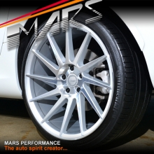 MARS MP-TW Silver 4x 19 Inch Twist Concave Stag Alloy Wheels Rims 5x120