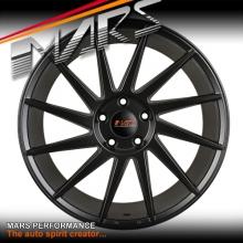 MARS MP-TW Matt Black 4x 19 Inch Twist Concave Stag Alloy Wheels Rims 5x112