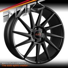 MARS MP-TW Matt Black 4x 19 Inch Twist Concave Stag Alloy Wheels Rims 5x120