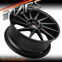 MARS MP-TW Matt Black 4x 19 Inch Deep Twist Concave Stag Alloy Wheels Rims 5x114.3