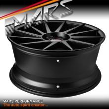 MARS MP-TW 19 inch Matt Black 4x 19 Inch Twist Concave Stag Alloy Wheels Rims 5x100