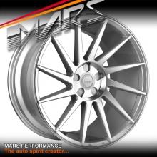 MARS MP-TW 19 inch Silver 4x 19 Inch Twist Concave Stag Alloy Wheels Rims 5x100
