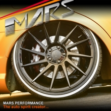 MARS MP-TW Gloss Black 4x 19 Inch Twist Concave Stag Alloy Wheels Rims 5x112