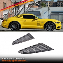 Matt Black ABS Plastic GT Rear Window Corner louver vents for Ford Mustang FM 2015-2017