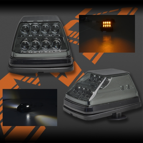 Full Smoked Mansory Style Front Led Turn Signal Indicator Lights For