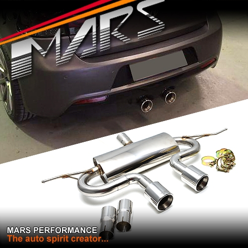 VW R20 R32 Style Cat Back Muffler Exhaust system for VolksWagen GOLF V 5 & VI 6 | Mars Performance