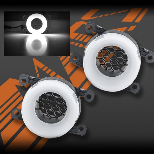Turbo Universal Headlight Led String: MARS High Power LED 3D Angel Eyes Bumper Bar Driving Fog