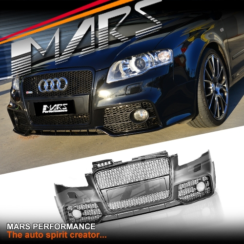 Carbon Fiber Wheels >> RS4 Style Front Bumper Bar for AUDI A4 B7 Sedan & Avant ...