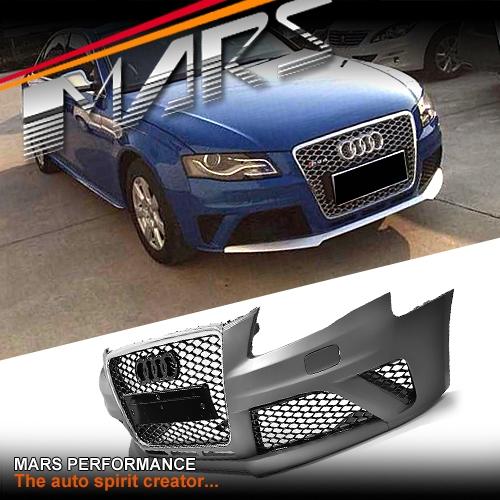 rs4 style front bumper bar for audi a4 s4 b8 09 11 sedan. Black Bedroom Furniture Sets. Home Design Ideas