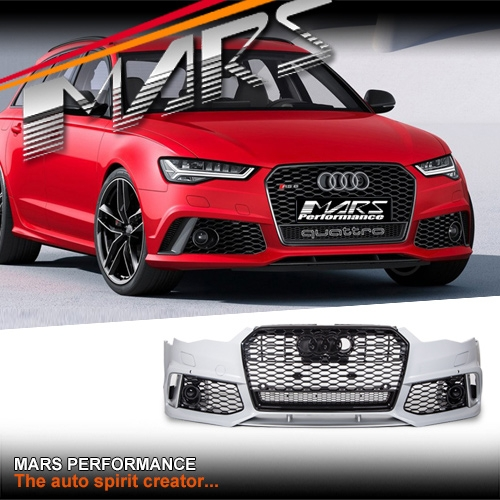 RS6 Style Front Bumper Bar with Grille for AUDI A6 S6 C7 15
