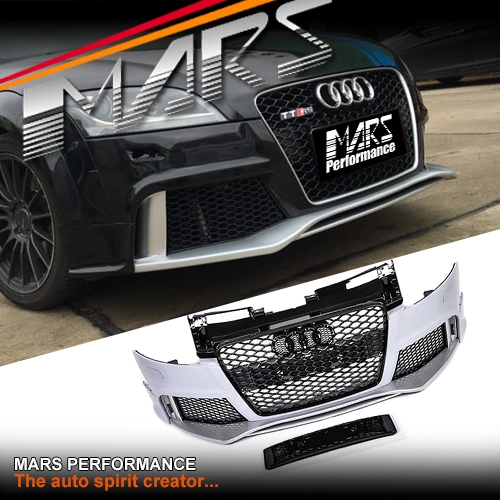 RS Style Front Bumper Bar With Grille For AUDI TT 8J MY06