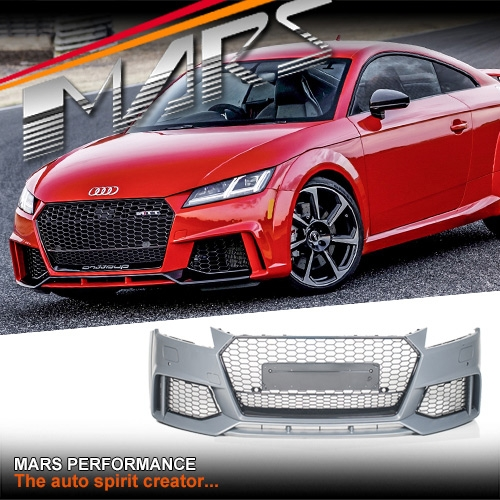 RS-TT Style Front Bumper Bar With Gloss Black Honeycomb