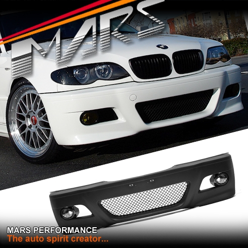 M3 Style Front Bumper Bar For Bmw E46 4d Sedan Wagon