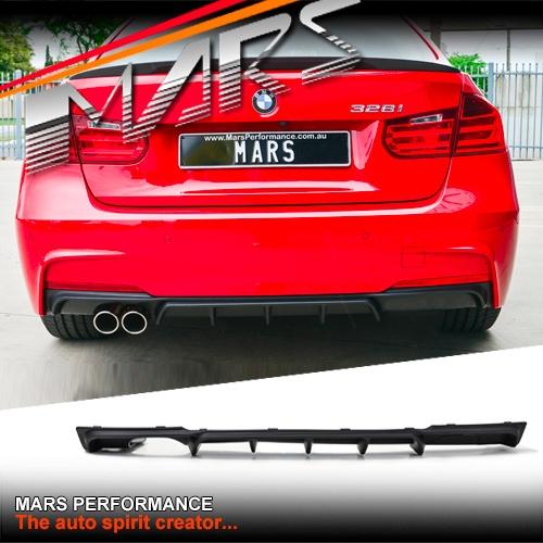 M Performance PP Rear Bumper Diffuser Dual for BMW F30 F31 3-Series M Sport