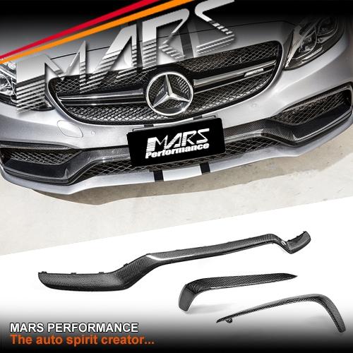 Mars Carbon Fibre Front Bumper Bar Replacement Trim Garnish For Mercedes Benz C63 Amg W205 C205