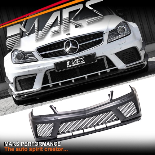 Mercedes Benz C63 Black Series: AMG C63 Black Series Style Front Bumper Bar For Mercedes