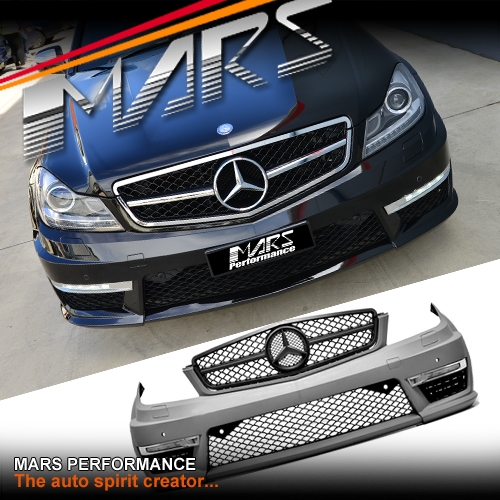 MY11-MY14 Update AMG C63 Style Front Bumper Bar for Mercedes