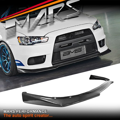 Ralliart Style Carbon Fiber Front Bumper Bar Lip Spoiler