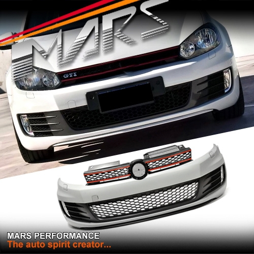 Gti Style Front Bumper Bar With Grille Amp Fog Lights For