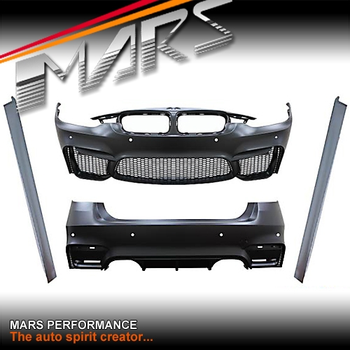 F80 M3 Style Side Skirts Front Bumper Rear Bumper For Bmw 3