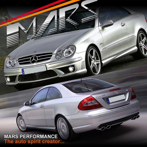Amg Clk63 Style Front Amp Rear Bumper Bar Amp Side Skirts For