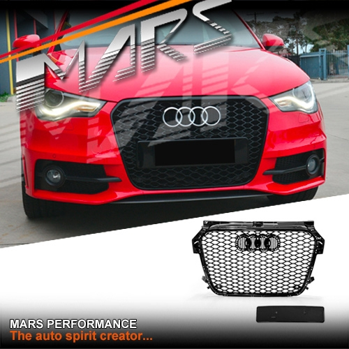 Gloss Black Rs1 Honeycomb Style Front Bumper Bar Grille For Audi A1