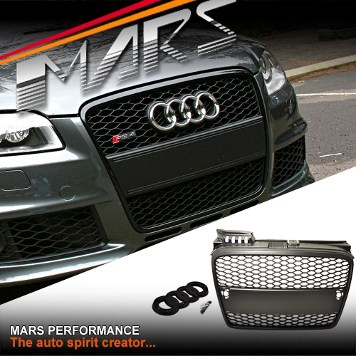 MATT BLACK RS HONEYCOMB STYLE FRONT BUMPER BAR GRILLE WITH