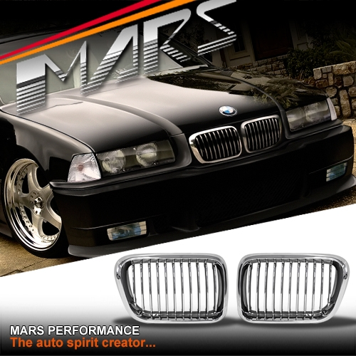Bmw M3 Cs: Chrome M3 Style Front Grille For BMW E36 97-98 Sedan Coupe