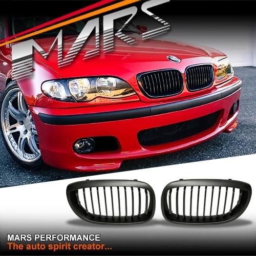 Bmw M3 Engine For Sale Australia: Matt Black M3 Style Front Kidney Grille For BMW E46 LCI