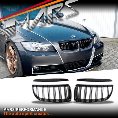 Gloss Black M4 Style Front Kidney Grille For BMW E90 Sedan