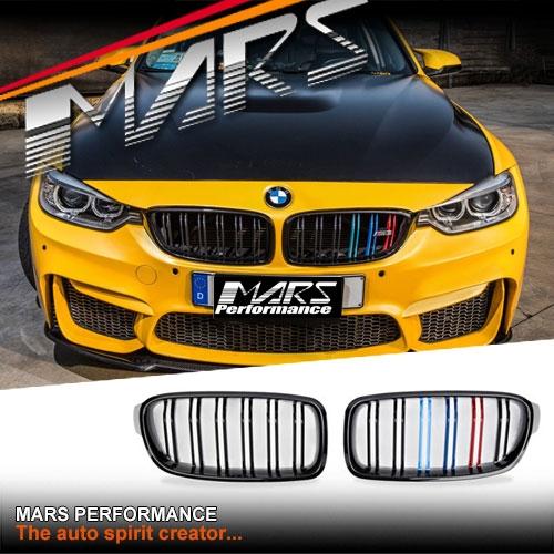 BMW F30 F31 M3 Style Gloss Black M-Color Front Grille 318d 320d