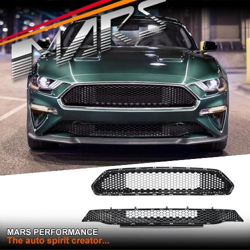Mustang Bullitt For Sale >> Gloss Black Bullitt Front Bumper Bar Grill for Ford ...