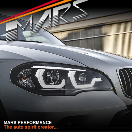 Black Led Drl Projector Head Lights For Bmw X Series X5