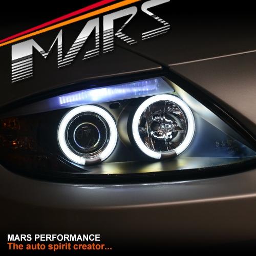Bmw Z4 Xenon Headlights: Black CCFL Angel-Eyes Projector Head Lights For BMW Z4 E85