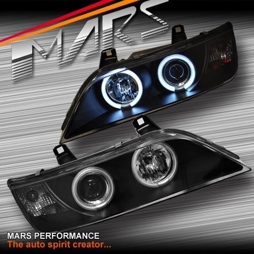 black ccfl angel eyes projector head lights for bmw z3 e36. Black Bedroom Furniture Sets. Home Design Ideas