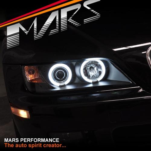 Bmw Z3 Horsepower: Black CCFL Angel-Eyes Projector Head Lights For BMW Z3 E36