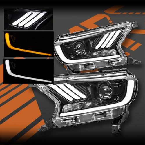 Mustang Style Drl Led Custom Diy Headlight Parts Kit With