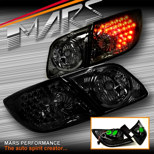 Smoked LED Tail Lights For Mazda 3 Hatch Back 03-09 BK