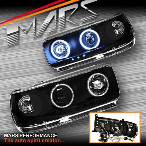 Black Ccfl Angel Eyes Projector Head Lights For Toyota