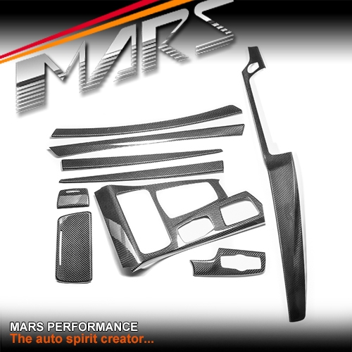 Real Carbon Fibre Rhd Interior Dash Trim Door Handle Covers For Bmw 5 Series F10 F11 Lci 14 16
